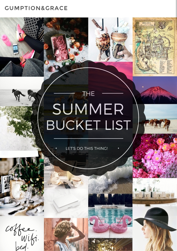 SUMMER BUCKET LIST GumptionGrace.com